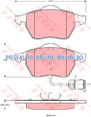 set placute frana,frana disc